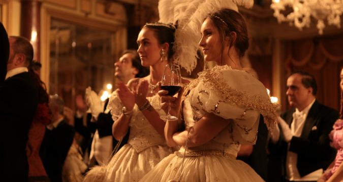 Alcuni ospiti del Gran Ballo Russo.
