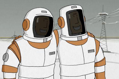 """Dal cartone animato """"Non possiamo vivere senza il cosmo"""""""