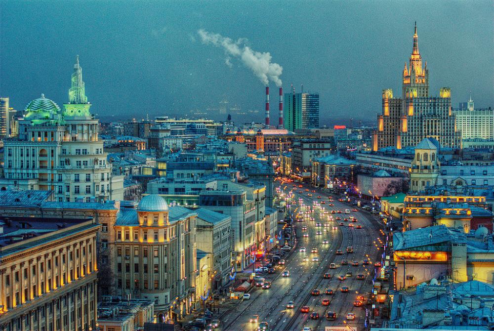 Una veduta di Mosca