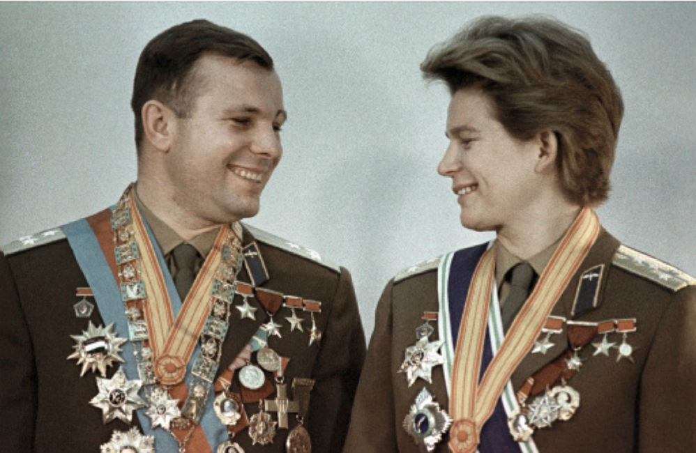 Iúri Gagárin e Valentina Terechkova