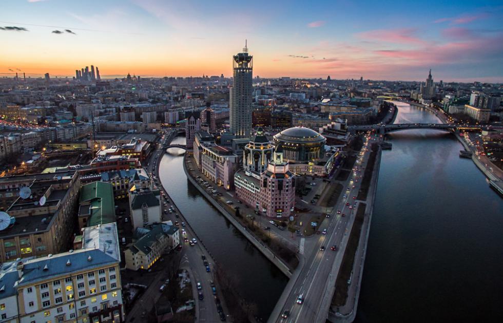 Mosca vista dall'alto.