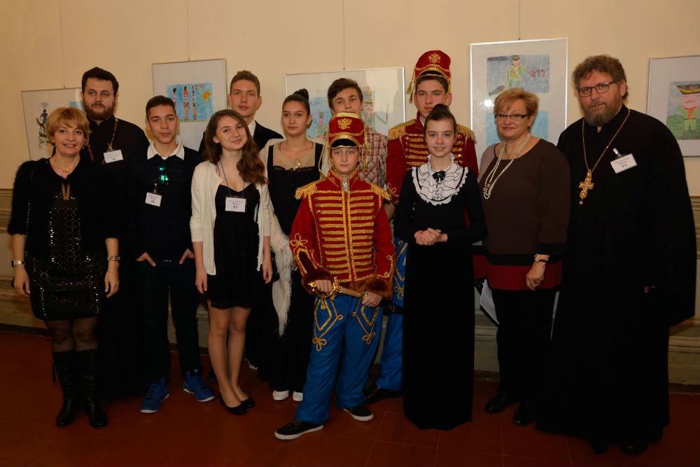 Alcuni ragazzi che hanno partecipato alle Seconde Olimpiadi Europee di Storia Russa