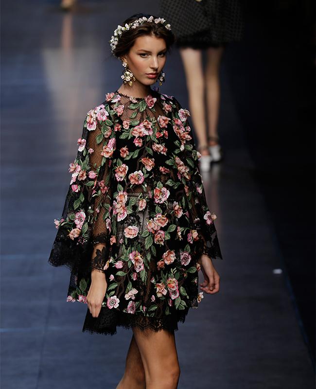 Dagli abiti ai cappotti, la tradizione russa sta spopolando sulle passerella / Collezione donna primavera-estate 2014, Dolce&Gabbana