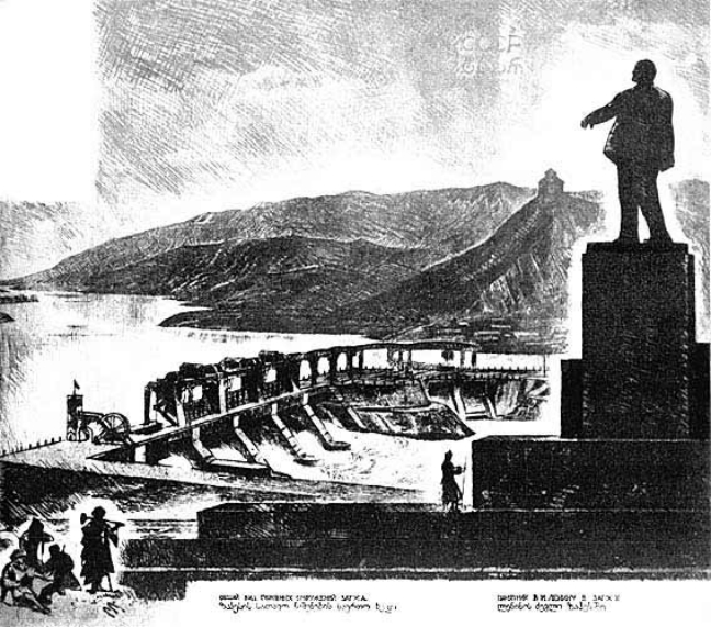 Il monumento di Lenin in Georgia misurava 25 metri di altezza. Nel 1990 u00e8 stato smantellato