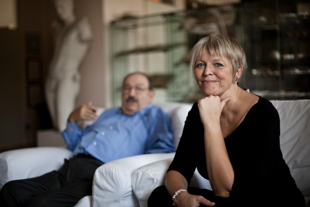 Elena Kostioukovitch e Umberto Eco.