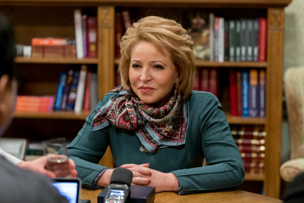 Valentina Matvienko dal 2011 ricopre il ruolo di speaker della camera alta del parlamento russo, il Consiglio della Federazione. Cominciò la sua carriera come funzionaria del Komsomol e del Partito Comunista. Possiede lo status diplomatico di ambasciatrice straordinaria e plenipotenziaria. Ha svolto incarichi diplomatici a Malta e in Grecia