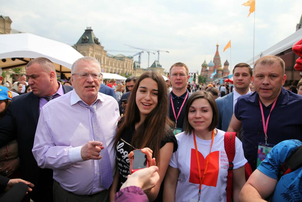 Il capo del partito liberal-democratico Vladimir Zhirinovskij