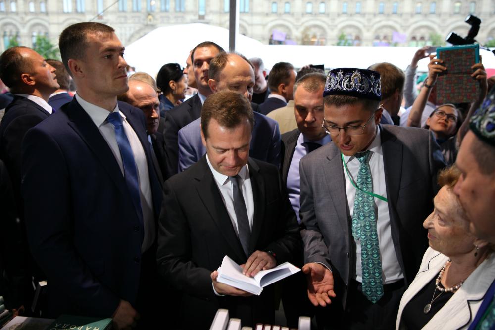 Il primo ministro russo Dmitrij Medvedev allu2019inaugurazione del festival