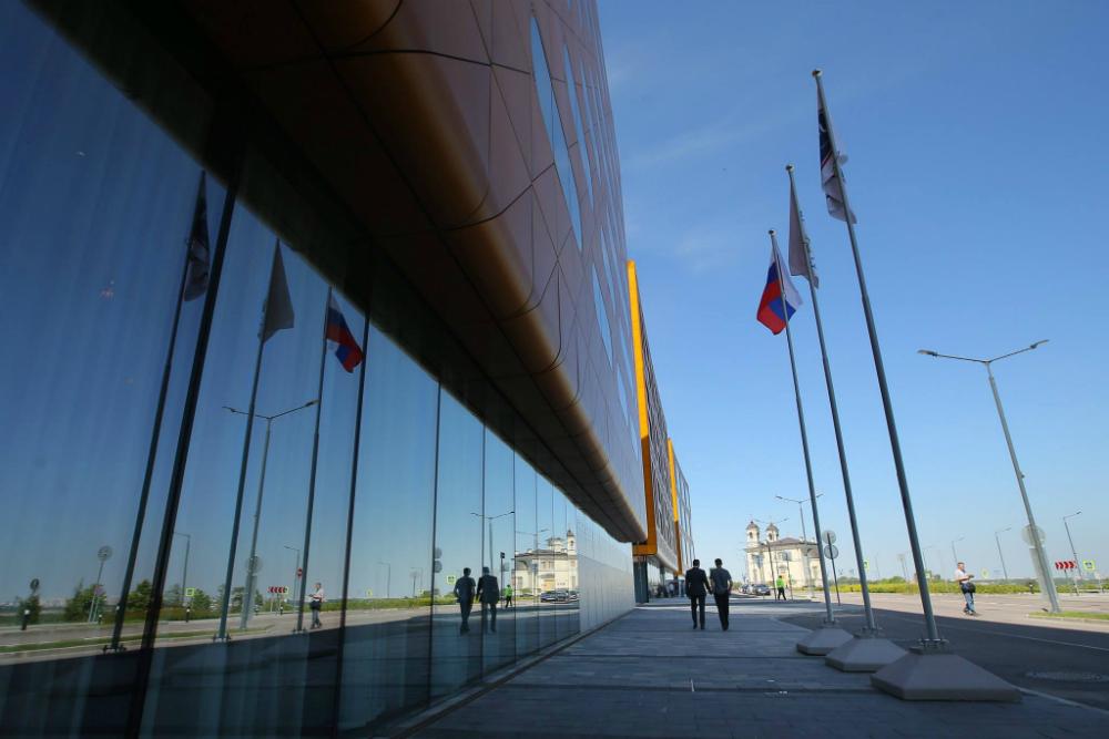 Il palazzo che ospiterà la ventesima edizione del Forum economico internazionale di San Pietroburgo.