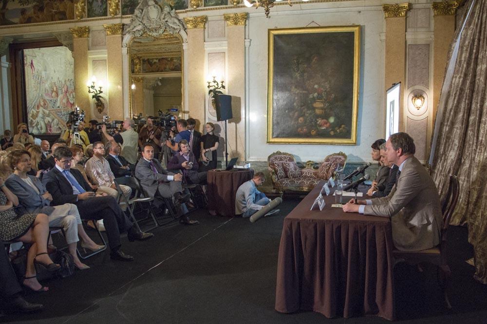 La firma dell'accordo nella sede dell'Ambasciata italiana a Mosca. Fonte: ufficio stampa
