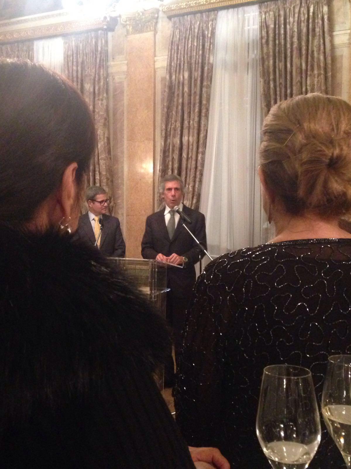 Paolo Barilla, presidente dell'associazione delle Industrie del Dolce e della Pasta Italiane, nella sede dell'Ambasciata d'Italia a Mosca / Fonte: Rbth