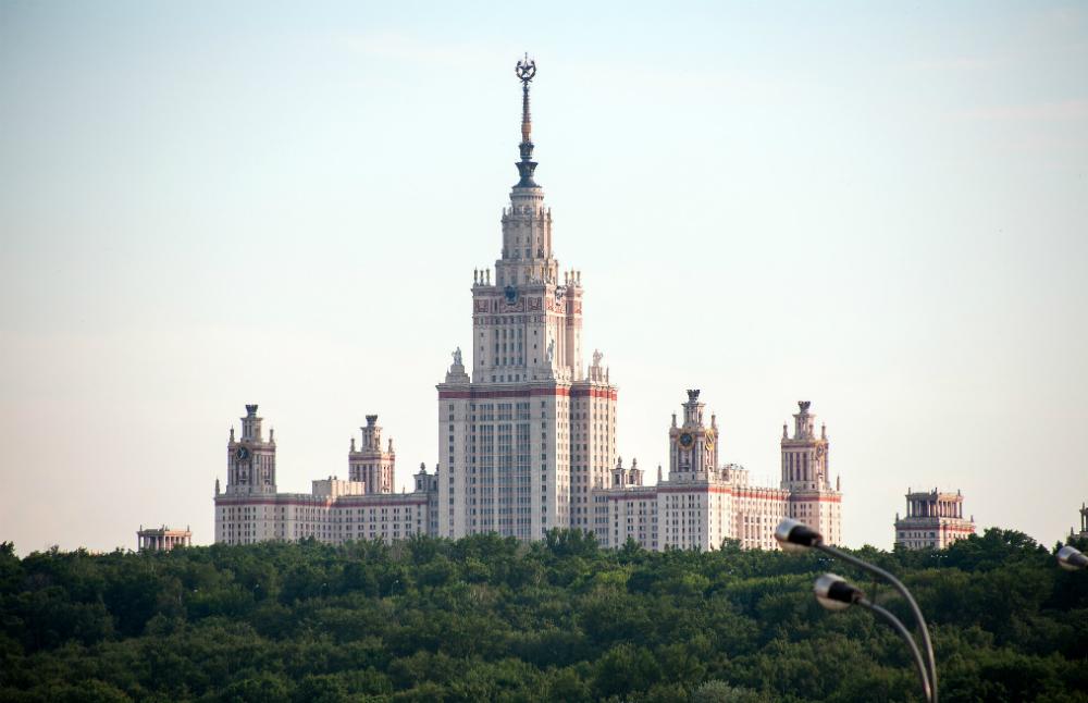 L'edificio principale dell'Università Statale Lomonosov di Mosca.