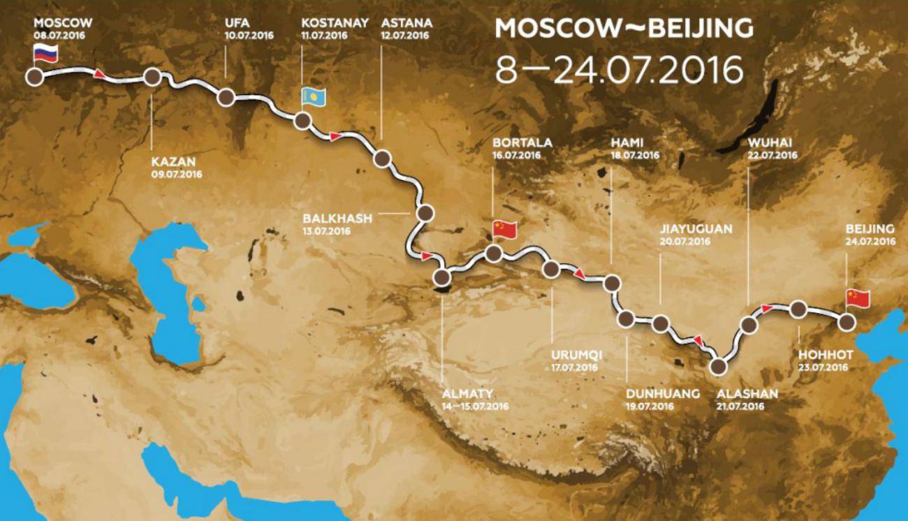 La mappa del rally. Fonte: ufficio stampa
