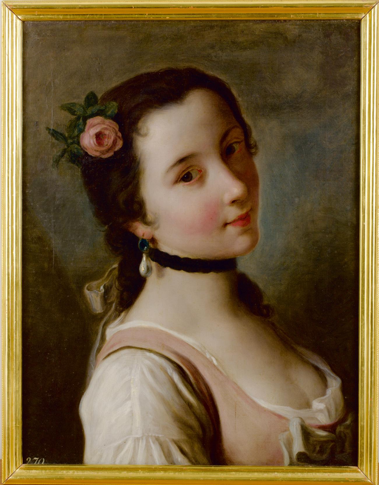 Fanciulla con una rosa tra i capelli. 1756-1762\n