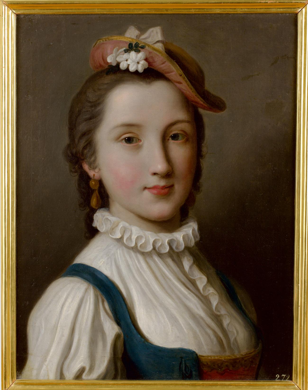 Pietro Antonio Rotari. Fanciulla con cappello. 1756-1762\n