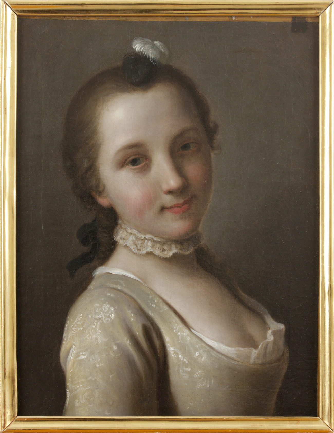 Pietro Antonio Rotari. Fanciulla con piuma tra i capelli. 1756-1762\n