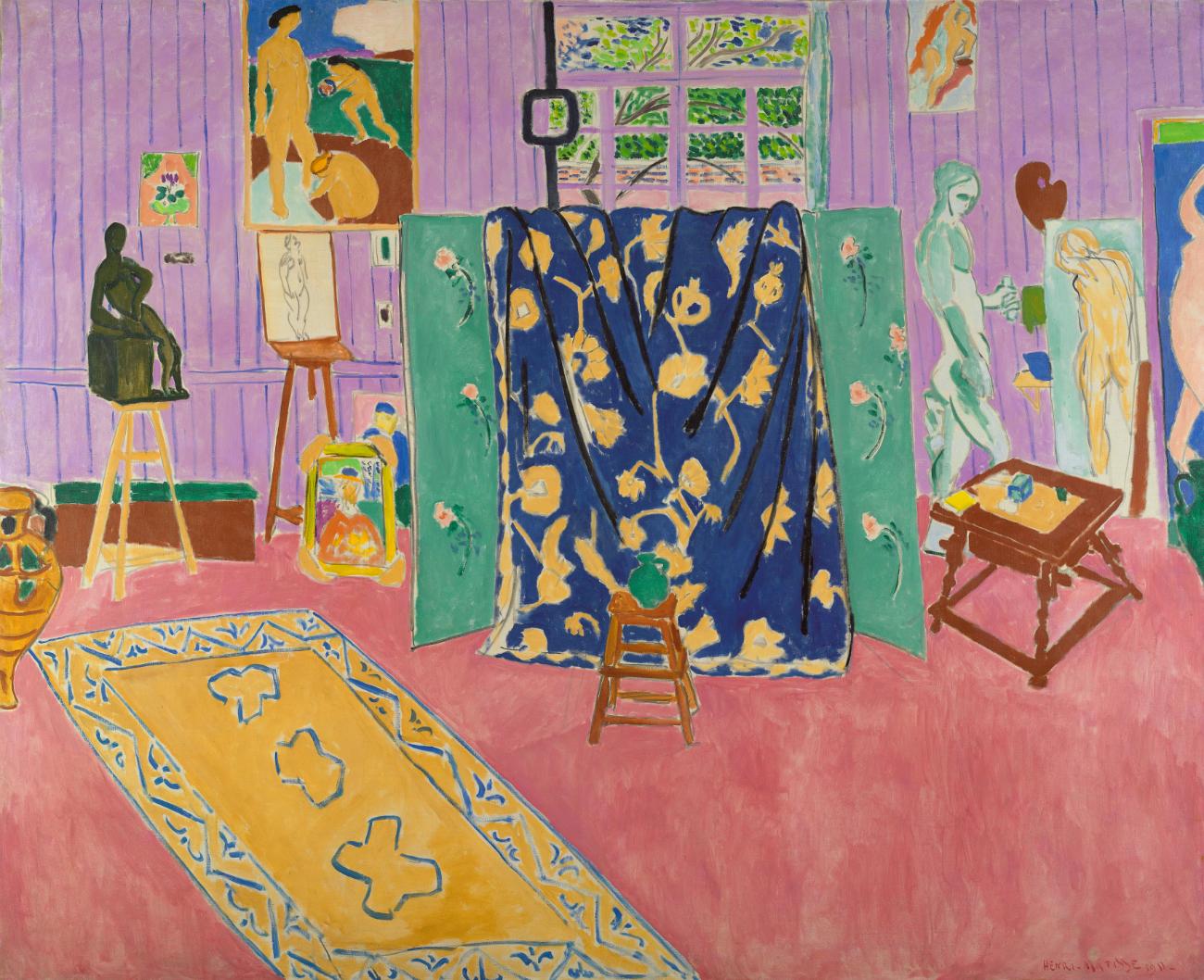 Анри Матисс  «Мастерская художника (Розовая мастерская)». Холст, масло, 1911