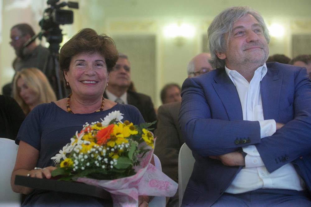 """Claudia Scandura durante la cerimonia di premiazione del concorso """"Read Russia"""" a Mosca. Fonte: archivio personale"""
