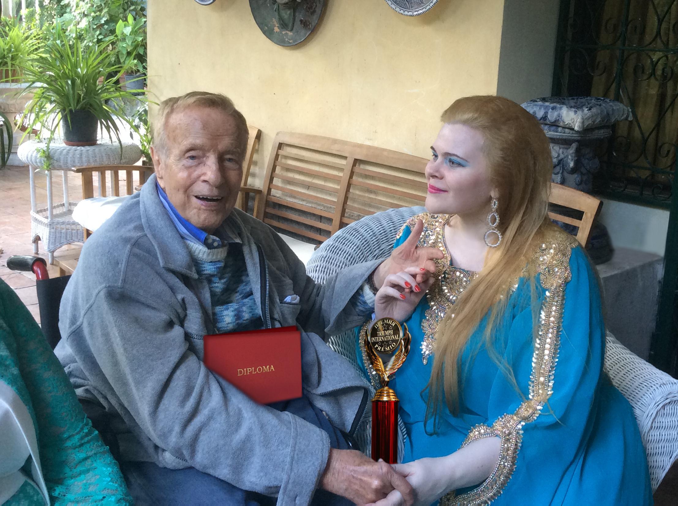 Olga Kuzmicheva con il regista Franco Zeffirelli\n