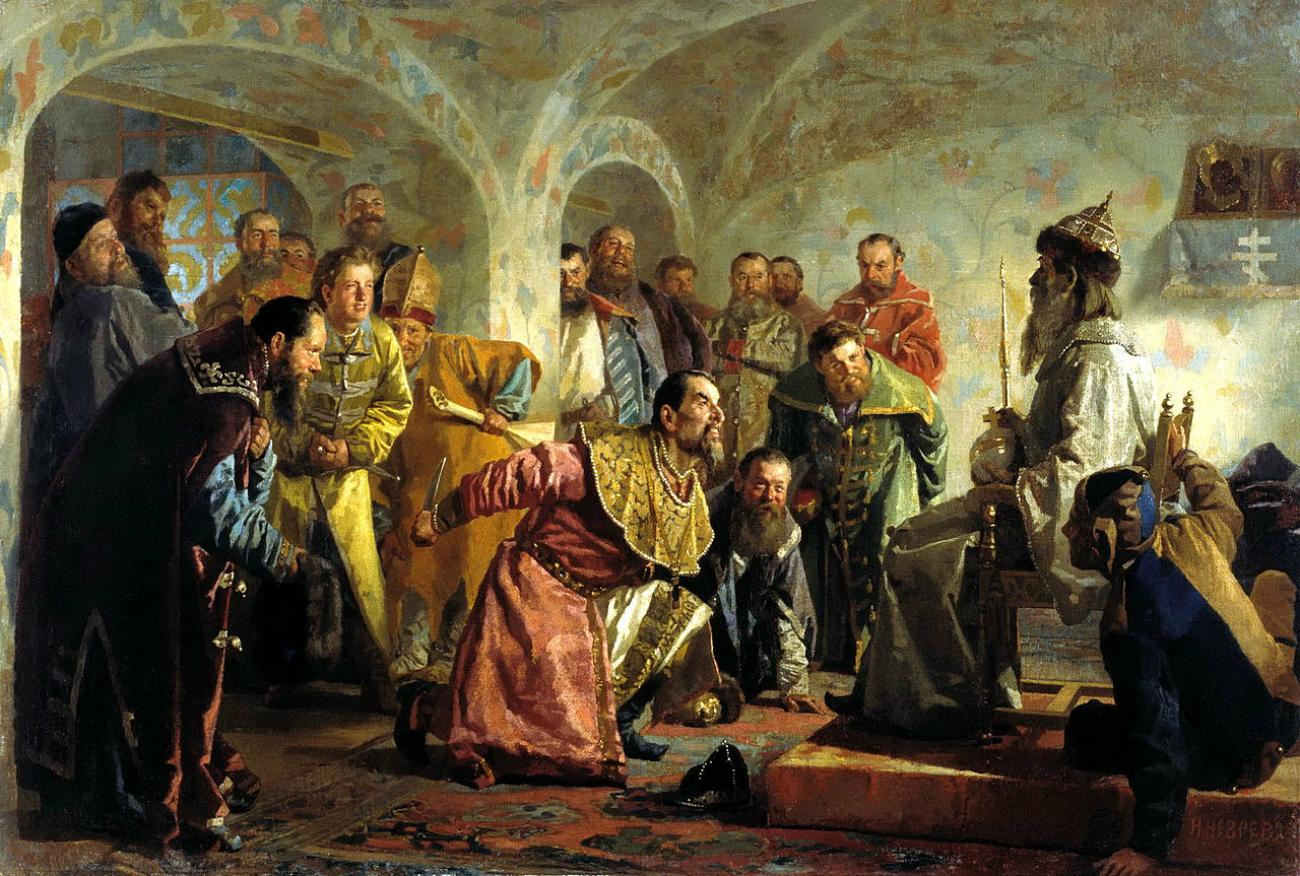 """""""Oprichniki"""", Nikolaj Nevrev, 1870. Fonte: Wikipedia.org"""