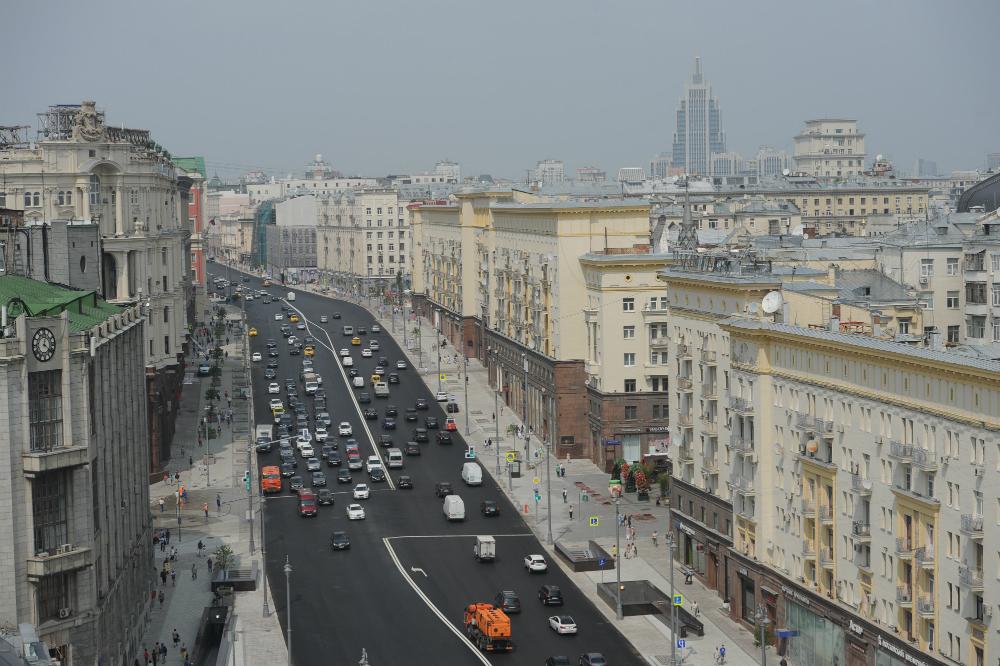 Le strade della capitale russa dopo i lavori di riqualificazione del centro\n