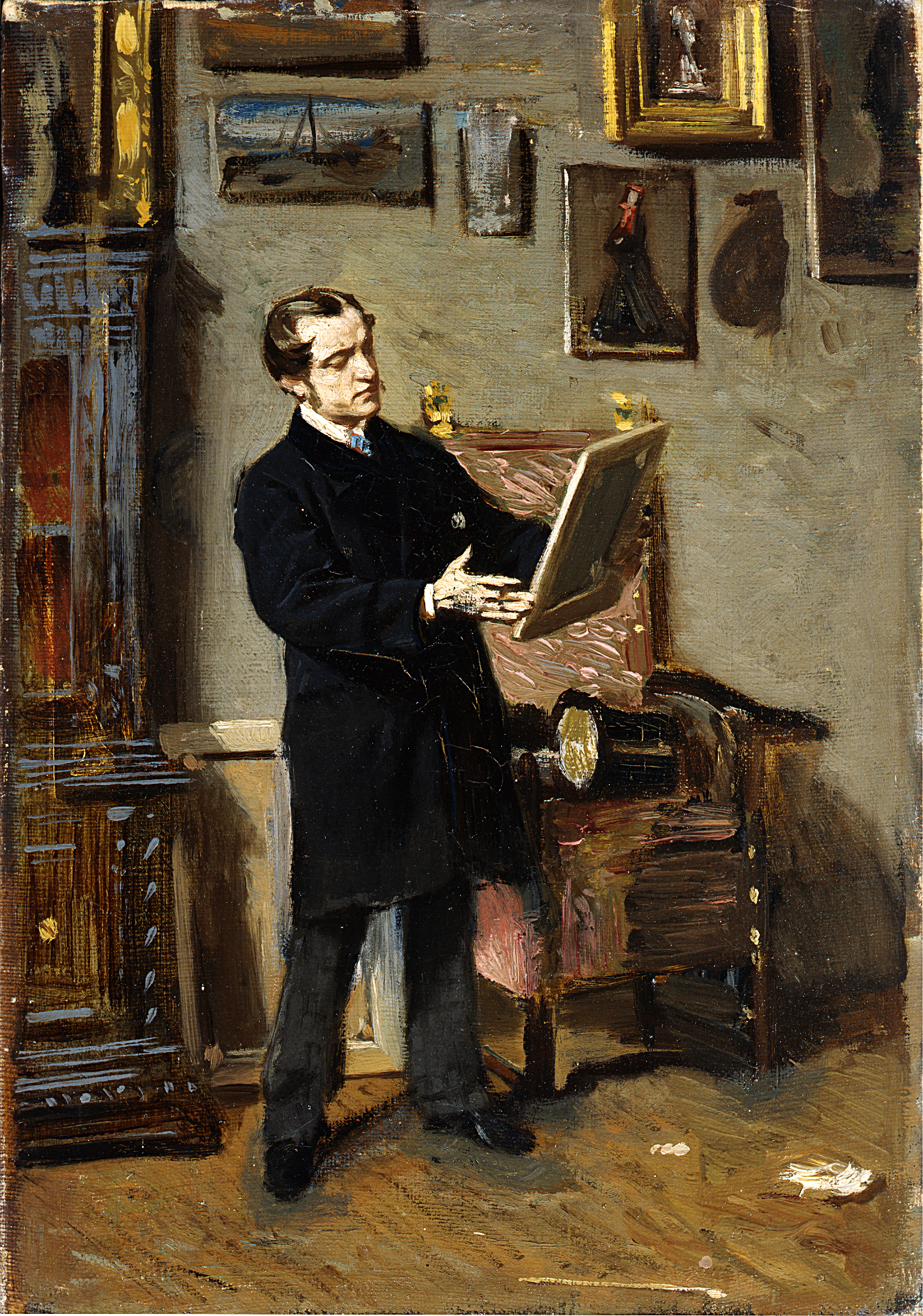 Autoritratto mentre osserva un quadro, 1865. Giovanni Boldini. Fonte: Ufficio stampa Ermitage
