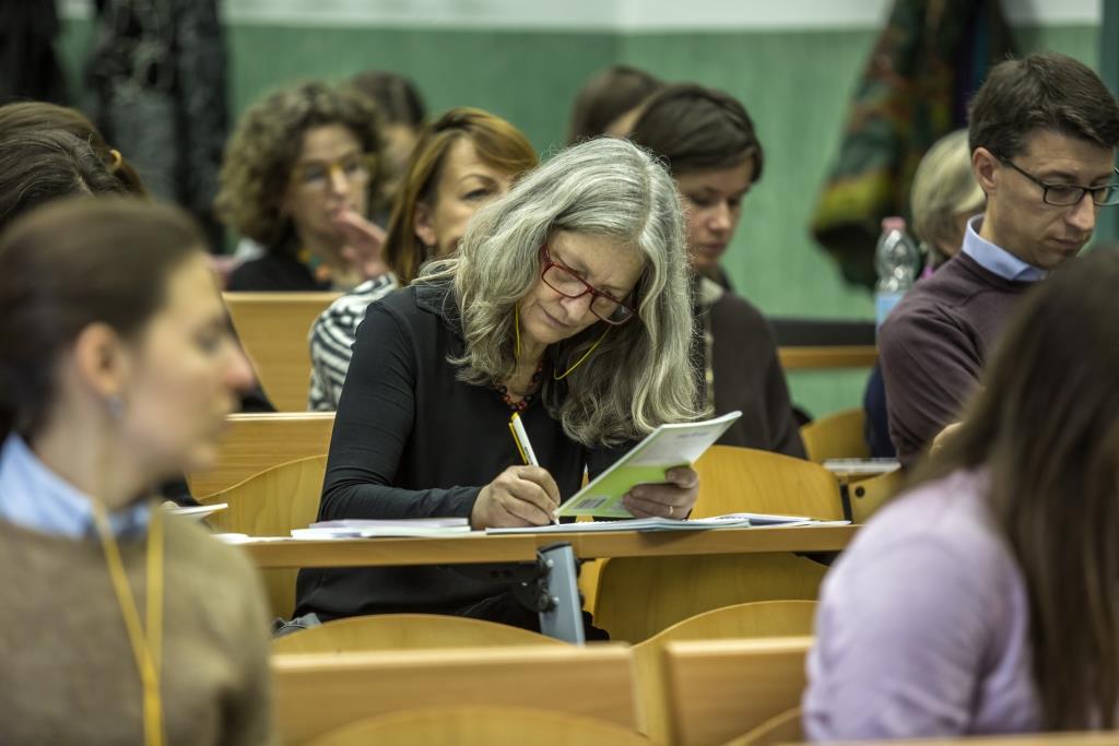 Insegnanti a lezione, durante la due giorni di incontri a Milano per gli specialisti di lingua russa.