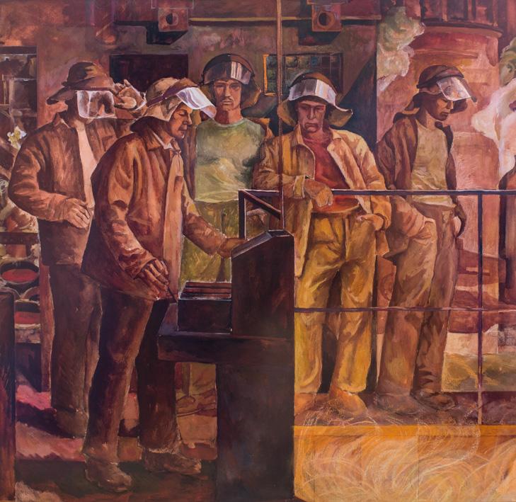 Nikita P. Fedosov, Operai nell'acciaieria, 1960-70. Fonte: ufficio stampa