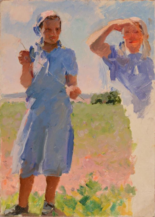 Fyodr P. Malaev, Studio di kolchoziane, 1950 circa. Fonte: ufficio stampa
