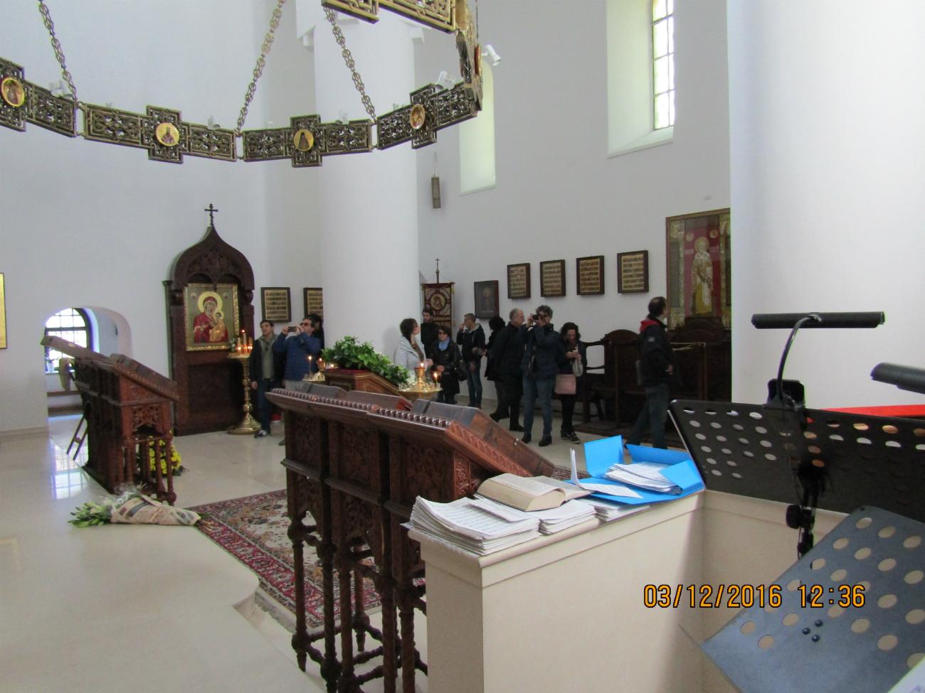 Dentro la chiesa. Fonte: ufficio stampa