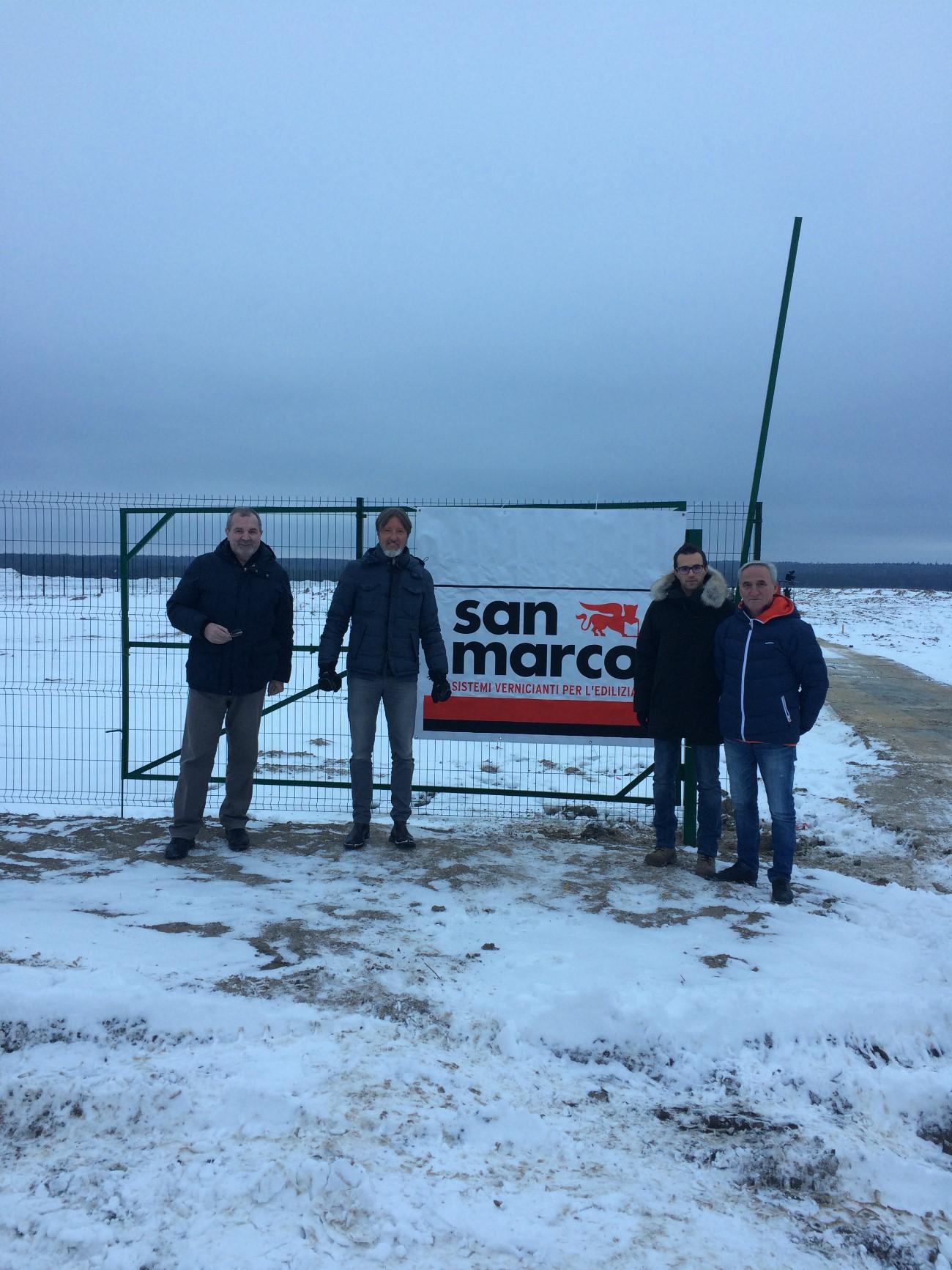 La squadra dell'azienda in Russia dove sorgerà il nuovo stabilimento. Fonte: ufficio stampa