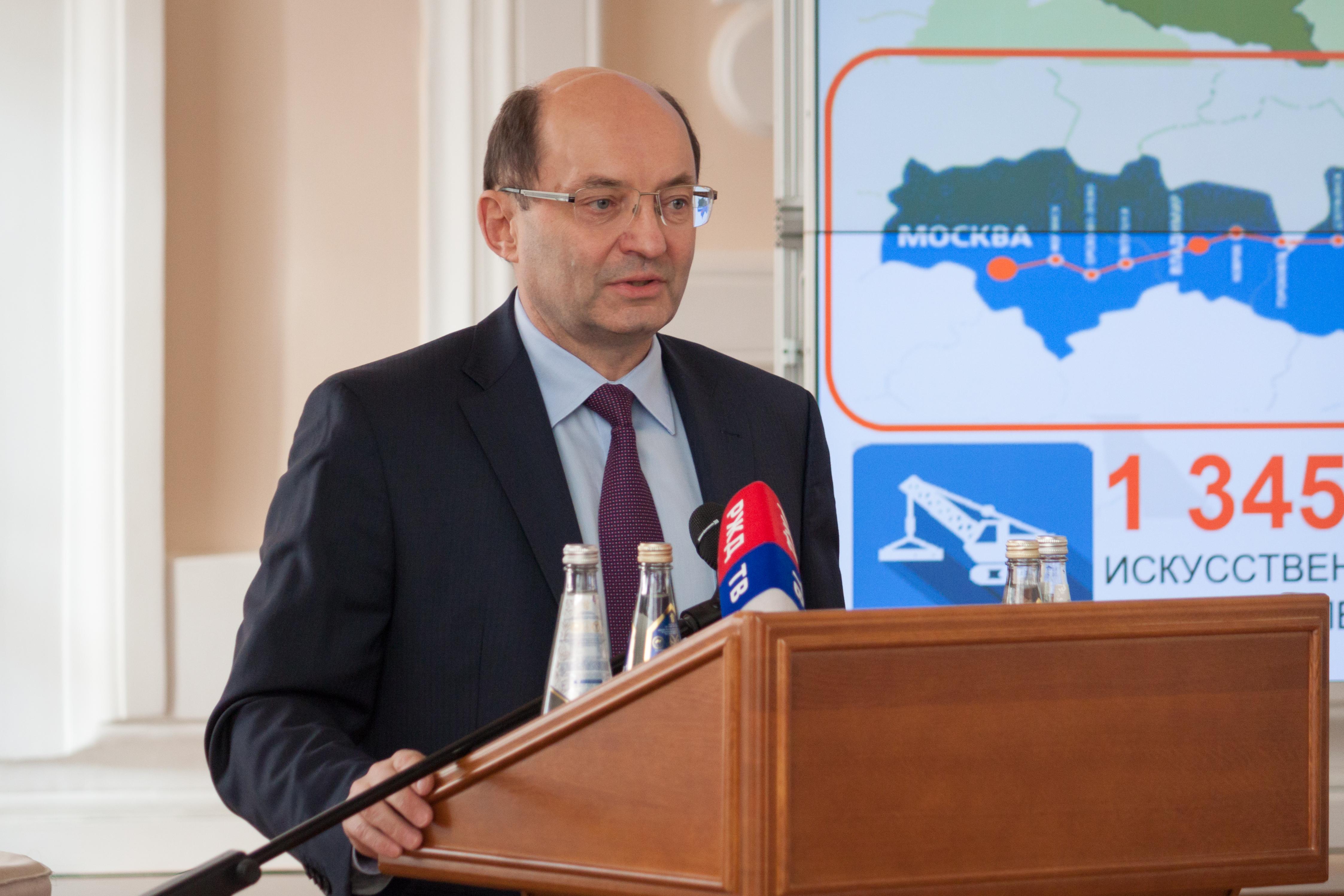 Aleksandr Misharin, vicepresidente delle Ferrovie russe.