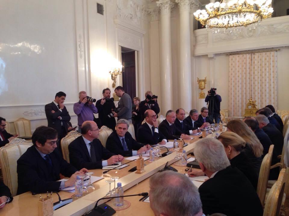 I colloqui tra i due ministri a Mosca. Fonte: Lucia Bellinello / Rbth
