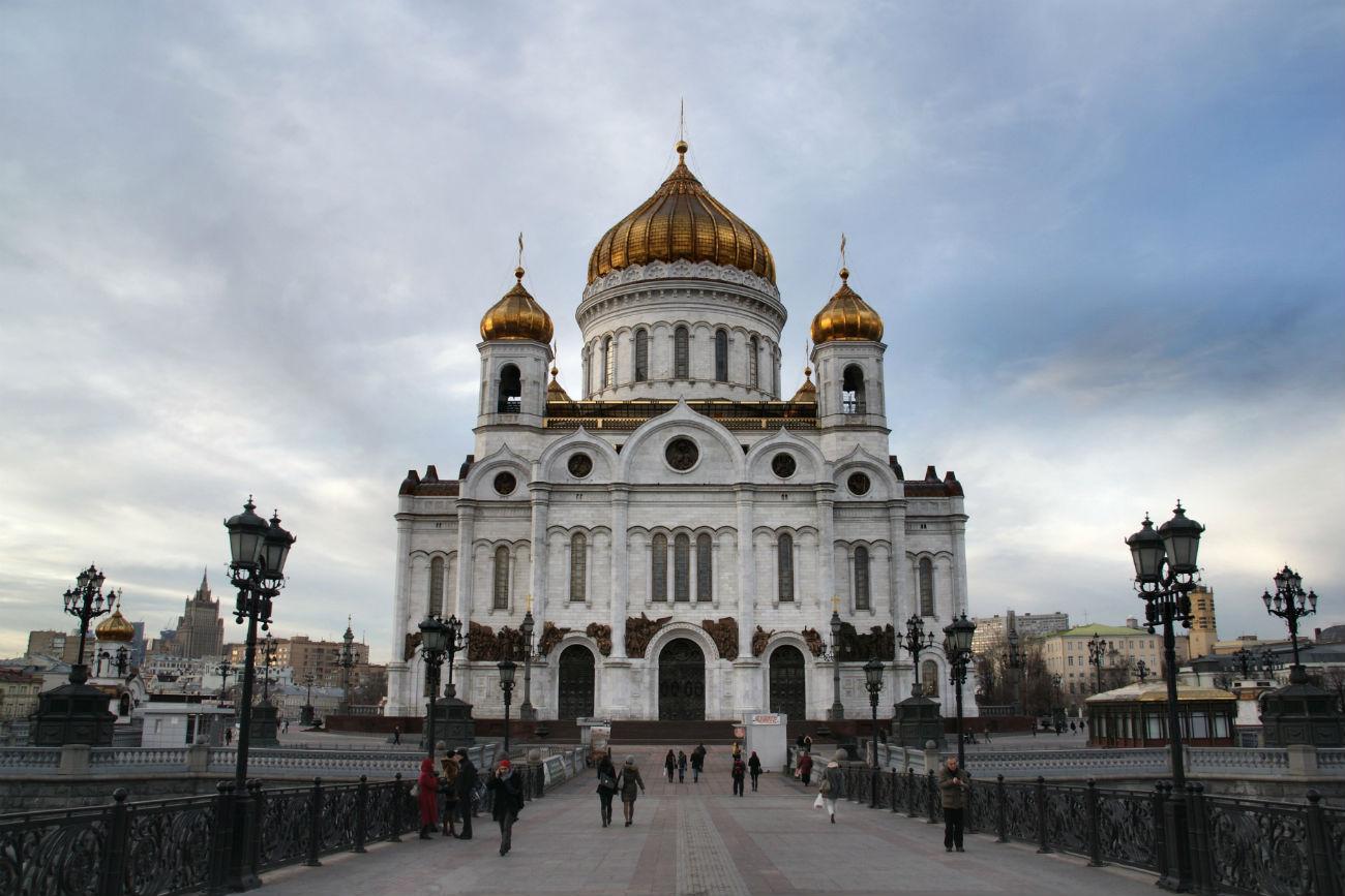 La Cattedrale di Cristo Salvatore di Mosca dove saranno conservate le reliquie di San Nicola fino al 12 luglio.