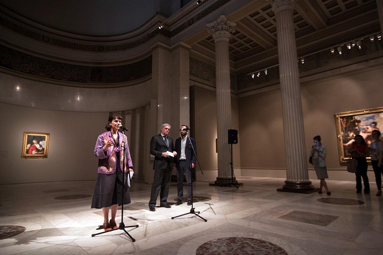 La direttrice del Museo Pushkin di Mosca Marina Loshak. Fonte: Vitalij Mikhajluk
