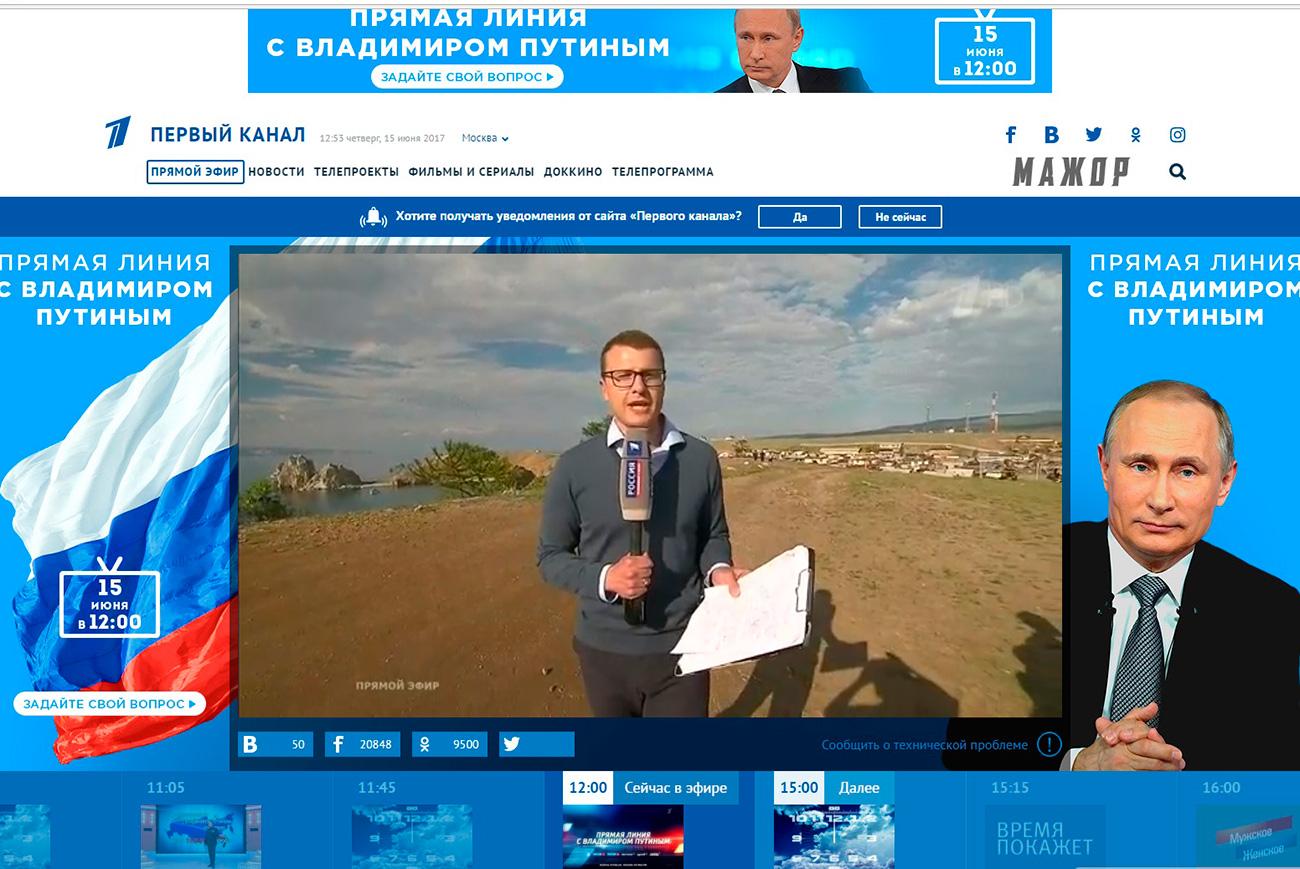 Il corrispondente dall'Isola di Olkhon. Fonte: screenshot