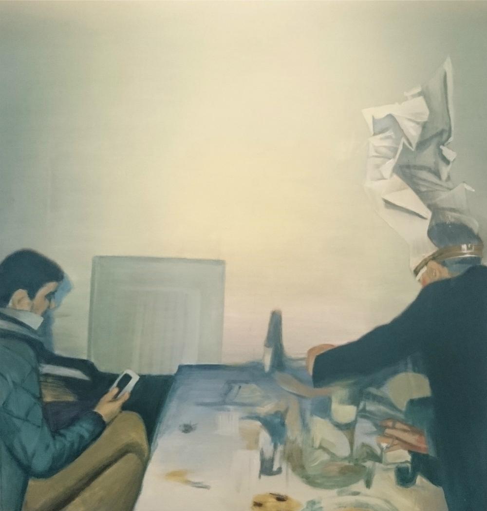 "Kirill Garshin. From the series ""Polaroid 3000"" (Feast).2015. Source: Pechersky Gallery"
