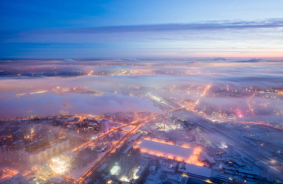 La città fotografata dall'alto