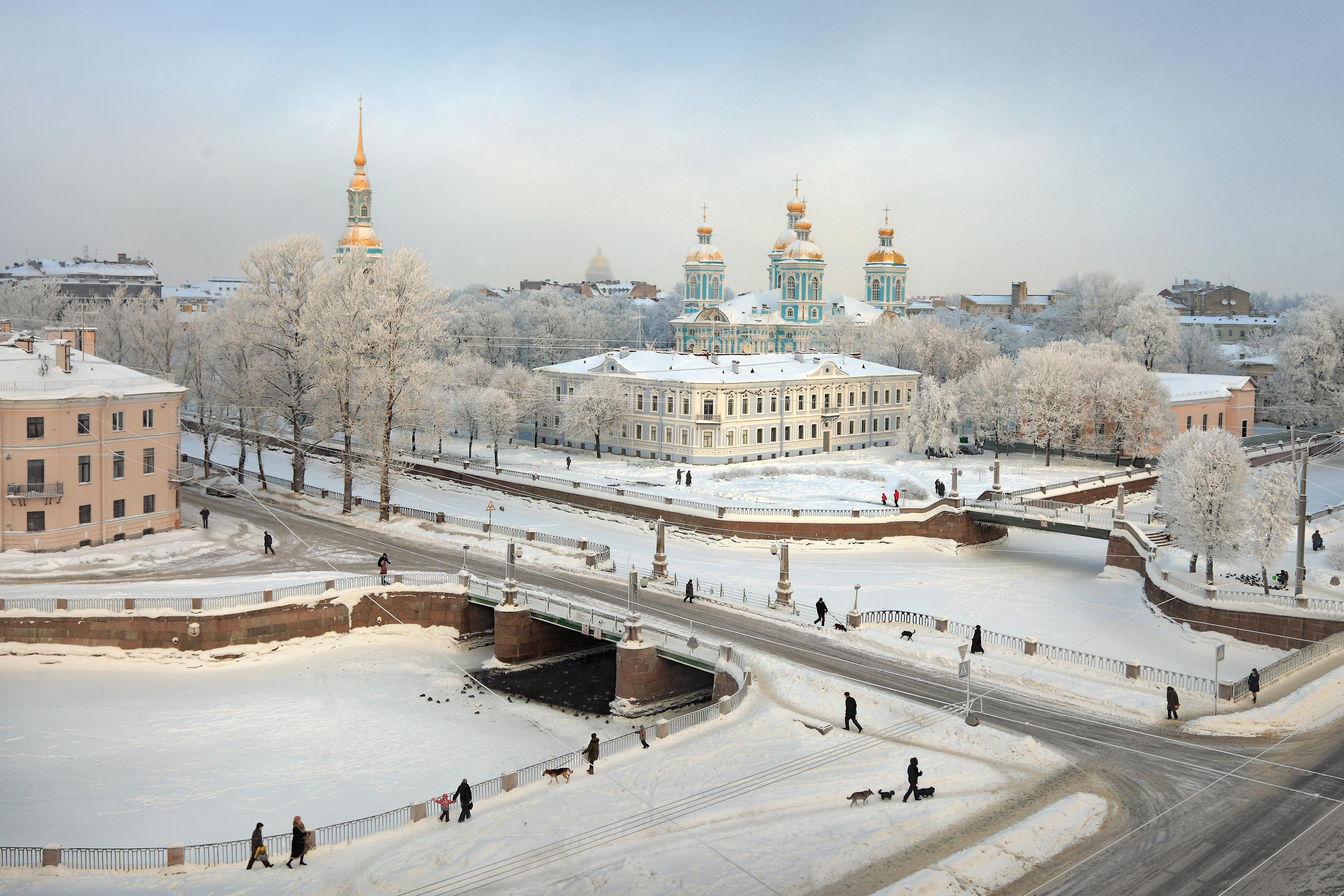Inverno a San Pietroburgo.