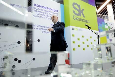 ビクトル・ベクセルベルグ氏、「スコルコボ」プロジェクトの総裁=アレクセイ・フィリポヴ撮影/ロシア通信