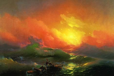 イヴァン・アイヴァゾフスキーの作品「第九の波涛」