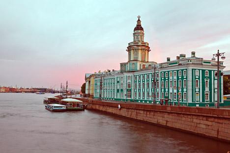サンクトペテルブルグのクンストカメラ(ピョートル大帝名称人類学・民族学博物館) =タス通信撮影