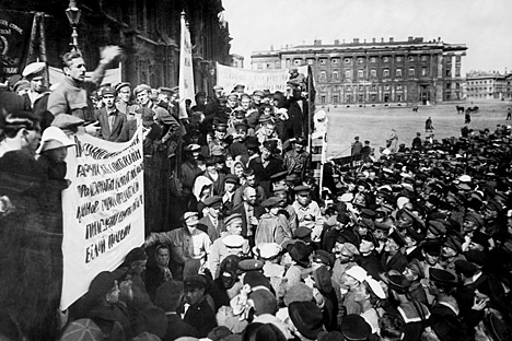 サンクトペテルブルグ、1920年。写真提供:タス通信
