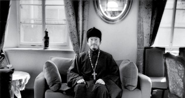イオアン師(小野氏)の先祖は、日本の最初の正教徒の一人だ  =James Whitlow Delano撮影