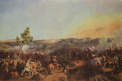 「バルティノ山の戦い」、ペーター・フォン・ヘスによる
