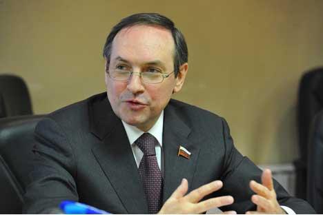 ロシア下院議員でもあるビャチェスラフ・ニコノフ氏 =PhotoXPress撮影