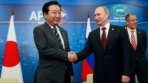 プーチン・野田の個別首脳会談 =AP通信撮影