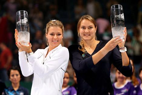 女子ダブルス部門で、ナデジダ・ペトロワとマリヤ・キリレンコ組が優勝した=GettyImages/Fotobank撮影