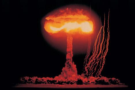 ツァーリ・ボンバ(爆弾の王様)の核実験=Getty Images撮影