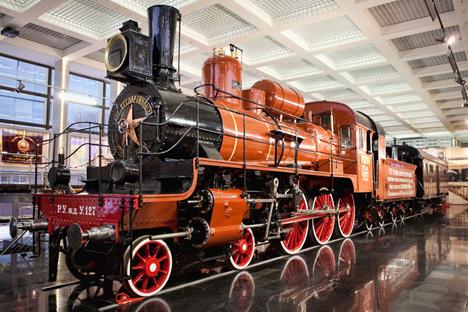 リガ駅の近く、鉄道技術歴史博物館 =オレグ・セルデチニコフ撮影